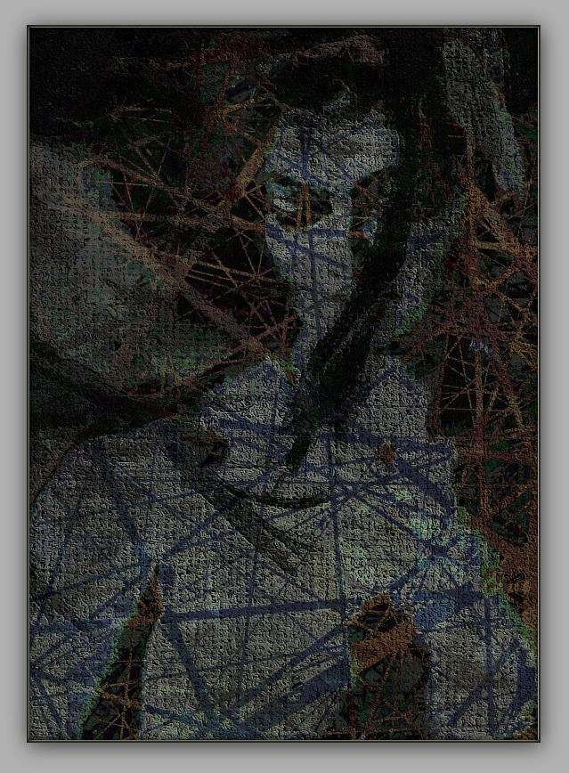 Weiblicher Akt – Mischtechnik Mixed Media Art; Druck auf Alu-Dibond Platte, 50x 80 cm by Asghar Keyhania