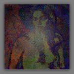 Weiblicher Akt – Mischtechnik Mixed Media Art; Druck auf Alu-Dibond Platte, 80x 80 cm by Asghar Keyhania