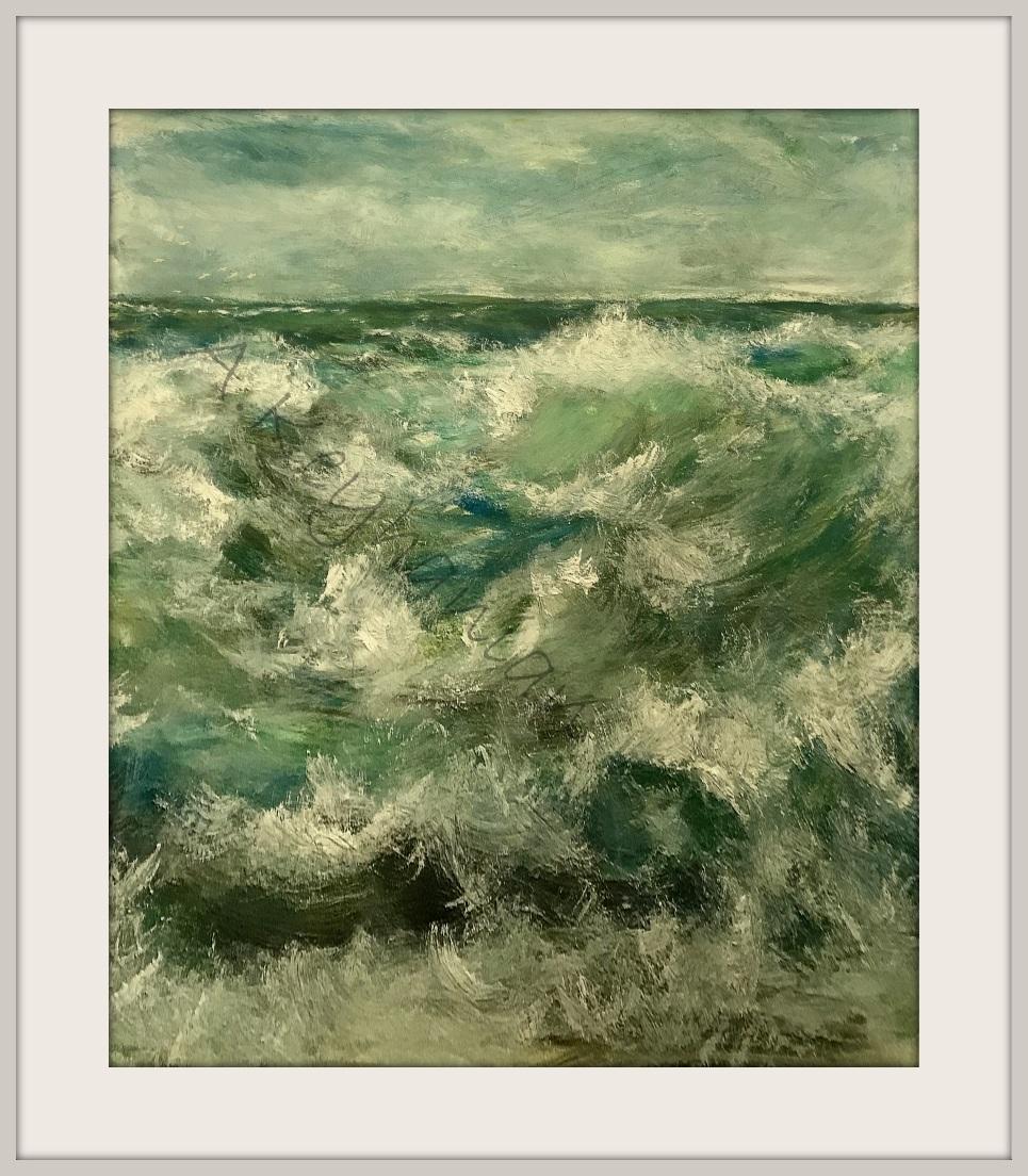 Das Meer Öl Auf Pape 80 x 65 cm Druck auf Lithopapier, 80 x 65 cm http://www.visuellewelt.de/ Copyright A. Keyhanian
