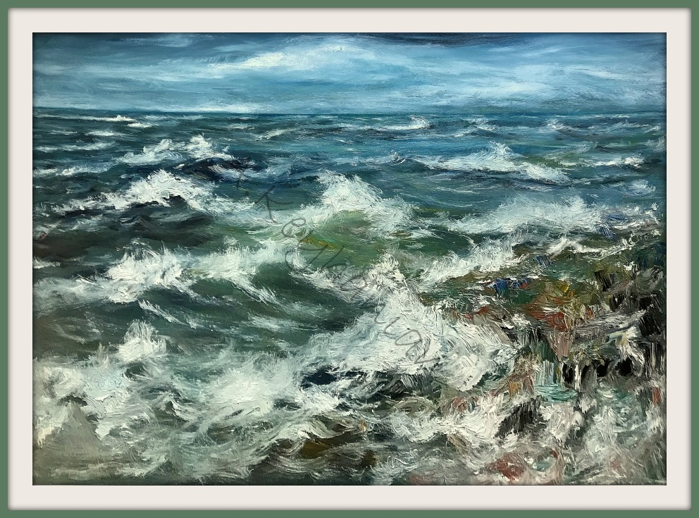Das Meer Brandung Öl Auf Leinwand 120 cm x 90 cm Mischtechnik