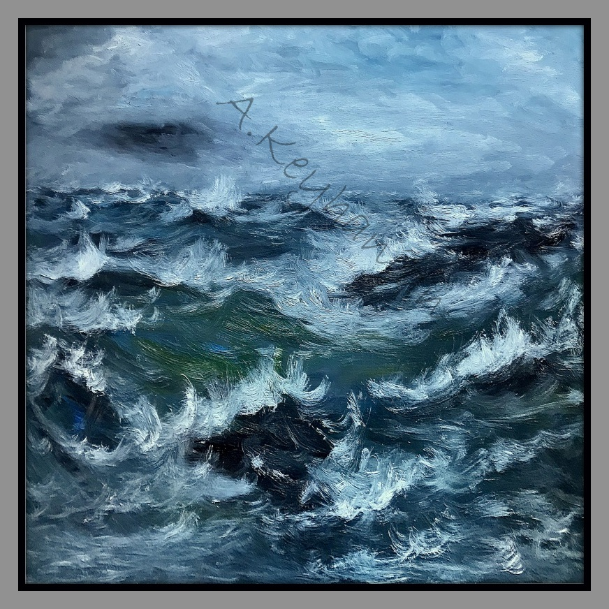 Das Meer Brandung Öl Auf Leinwand 140 cm x 140 cm Mischtechnik