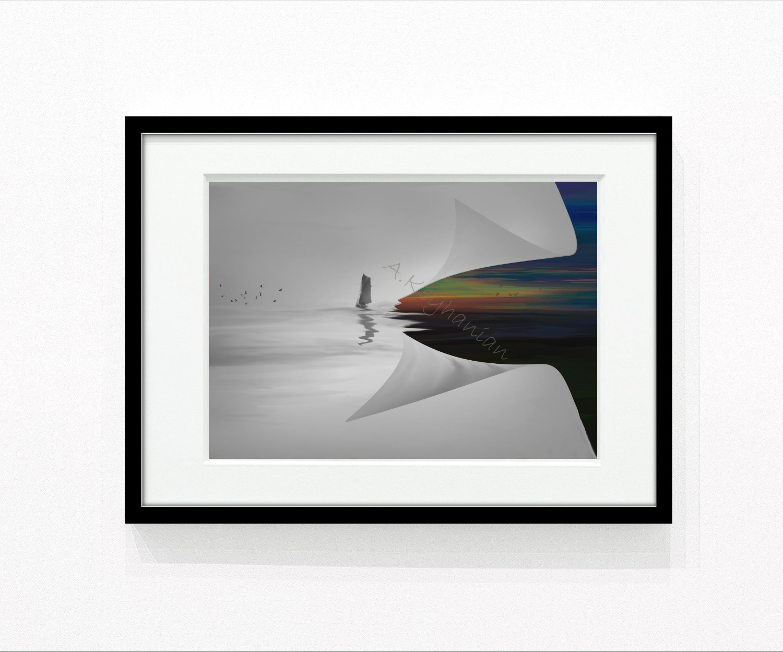 Signiert und Datiert, Farbdruck auf Papier, ungerahmt, Format: 70 x 50 cm, copyright